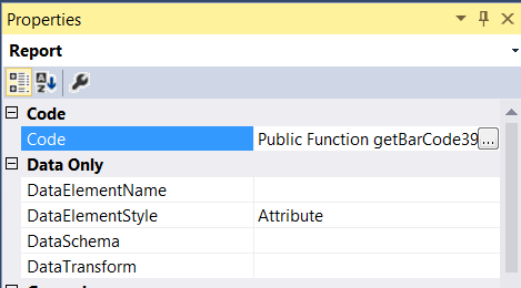Generate barcode using Visual Studio local report or SSRS – Adept