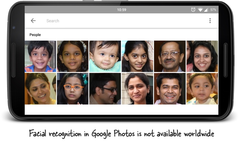 Facial Recognition in Google Photos