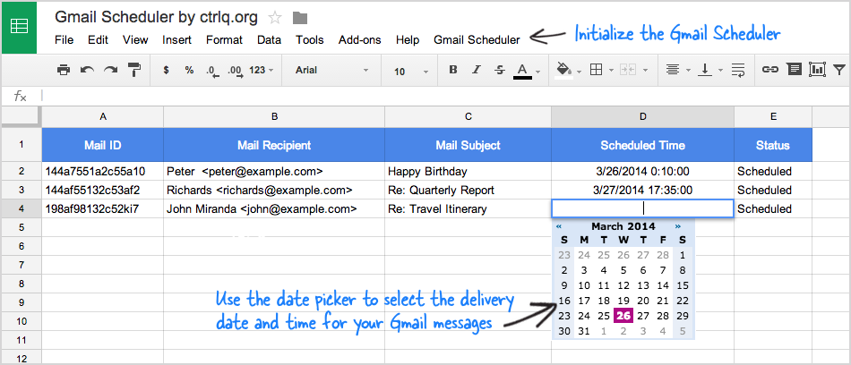 Schedule Gmail Messages